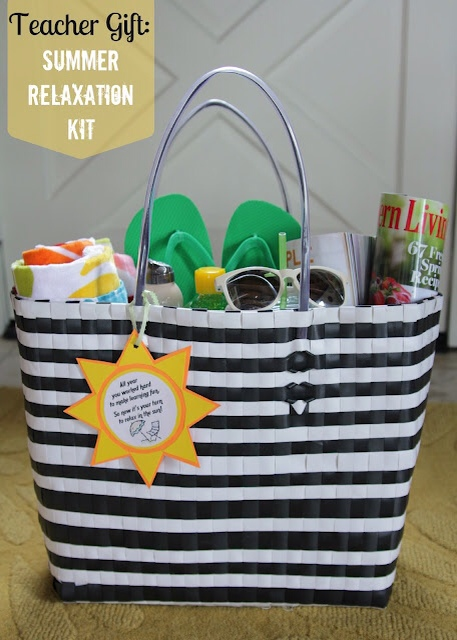The Organized Wife summer relaxation gift  via LollyJane.com #teacherappreciation