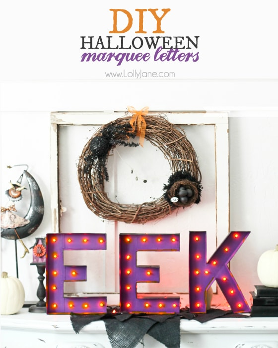 DIY Halloween marquee letters