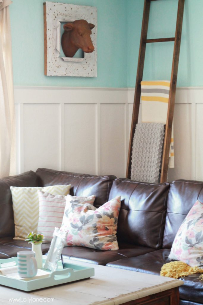 Colorful Farmhouse Family Room Lolly Jane