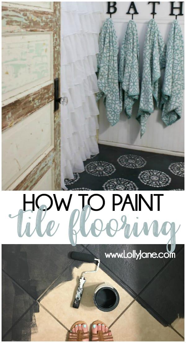 hate your tile floors paint them