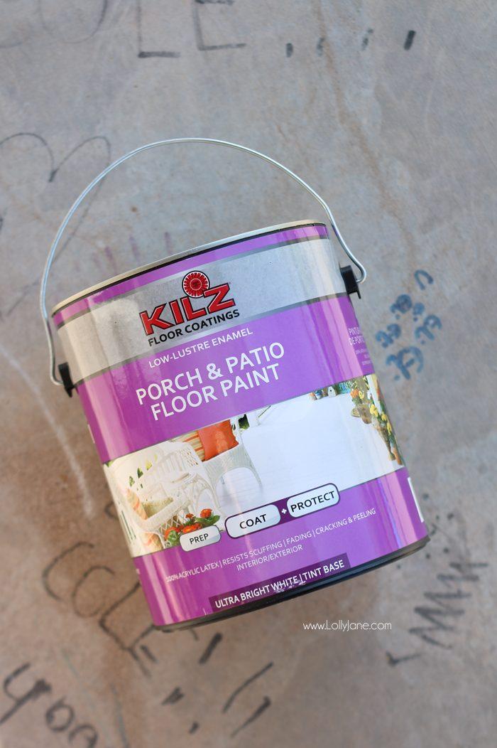 exterior floor paint for concrete