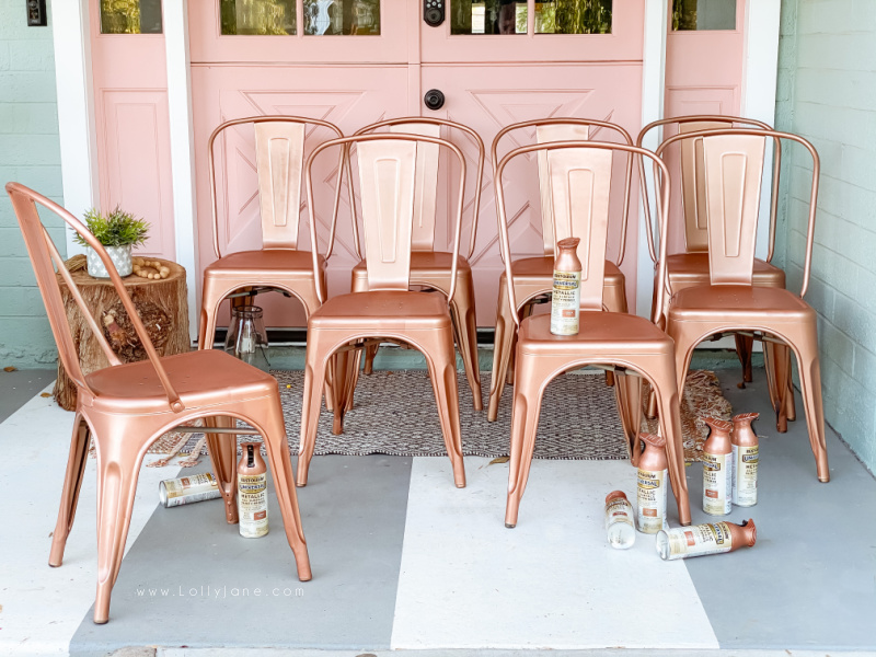 how to spray paint metal chairs lolly