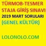 TÜRMOB-TESMER STAJA GİRİŞ SINAVI -Mali Müşavirlik Sınavı