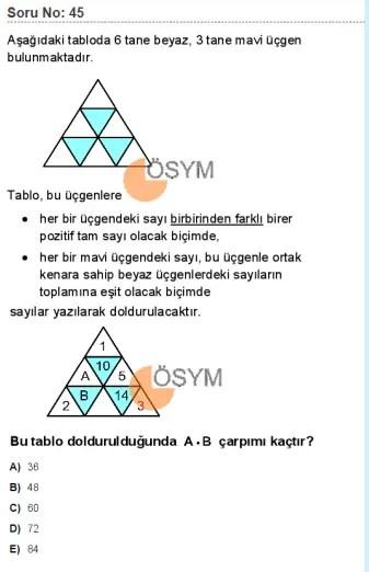 DGS 2020 Sayısal Soru - 45