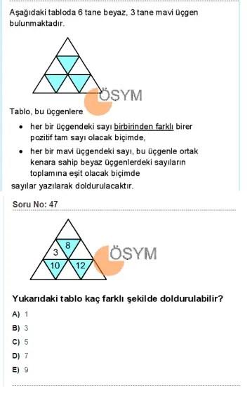 DGS 2020 Sayısal Soru - 47