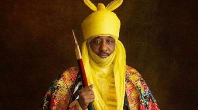 The Former Emir of Kano and former CBN Governor, Sanusi Lamido Sanusi in a yellow turban