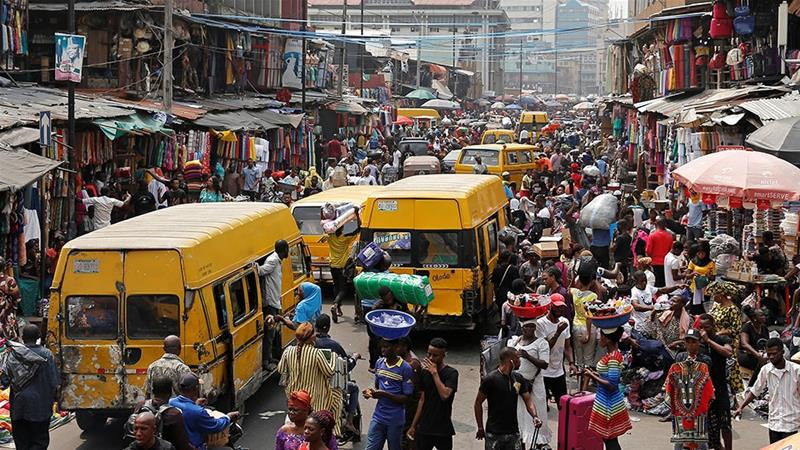 Typical busy day in the city of Lagos