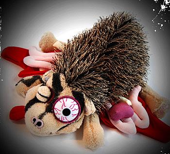 Roadkill Porcupine Stuffed Animal