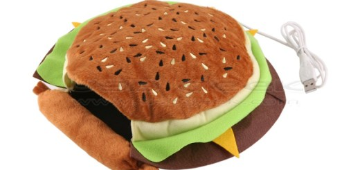Hand Warming Hamburger Mouse Pad