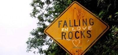 Road Sign: Falling In Love Rocks