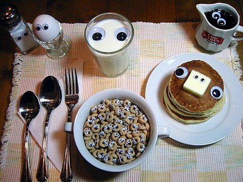 I Think My Breakfast Is Looking At Me