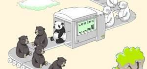 Panda Bears Were Created When God Ran Low On Ink