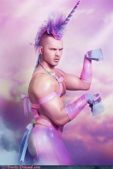 You dress up as a purple unicorn. Or you find this sexy.