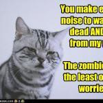 LOL Zombie Cats Warning
