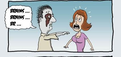 Even Zombies Enjoy A Nice Rack