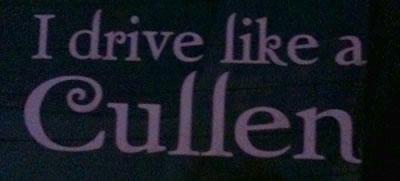I Drive Like A Cullen