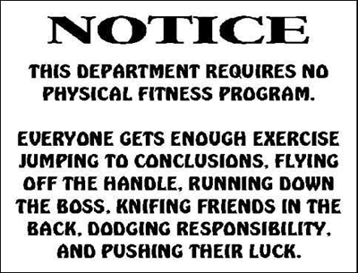 See, You Do Exercise Ever Day