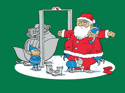 Santa Visits The Airport