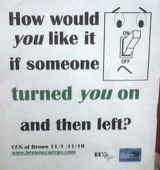 Save Energy, Don't Turn Someone On and Run