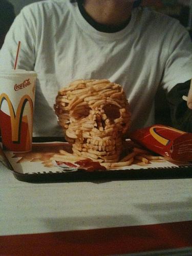 McDonalds French Fry Skull