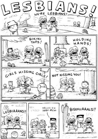 Lesbians. The Cartoon.