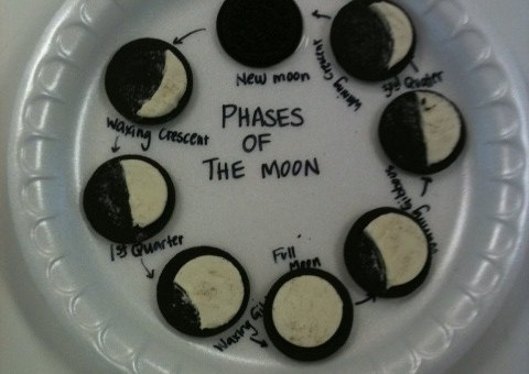 Phases of the Moon - Represented by Oreos