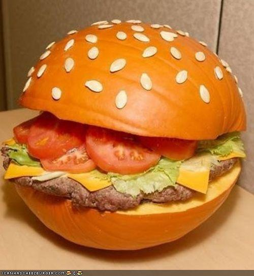 Pumpkin burger looks better than it tastes.
