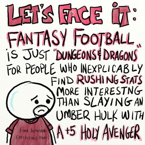 Fantasy Football is just like Dungeons & Dragons