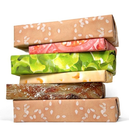 Wrap your presents like a hamburger.