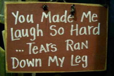 Tears Ran Down Leg