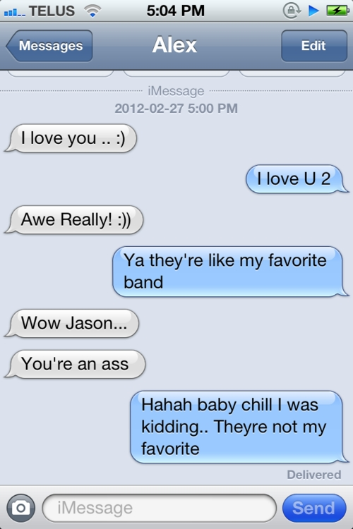 iMessage Love