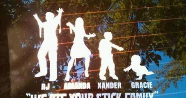 Zombie Family Stickers
