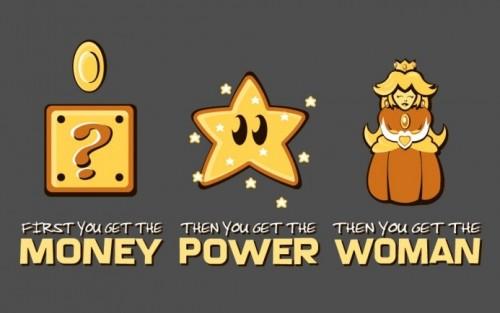 Money Power Women Mario