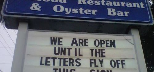 Open during the hurricane.