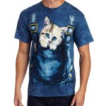 Mens Kitty Overalls Shirt
