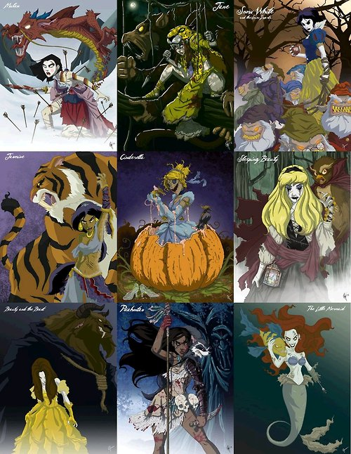 Zombie Disney PrincessesZombie Disney Princesses