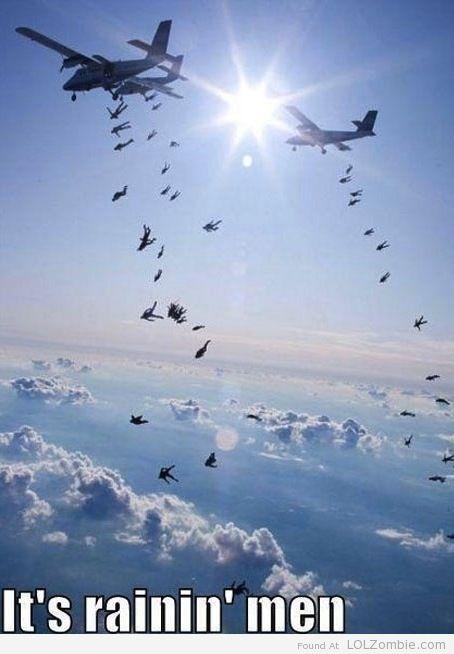 Parachuting Army Men