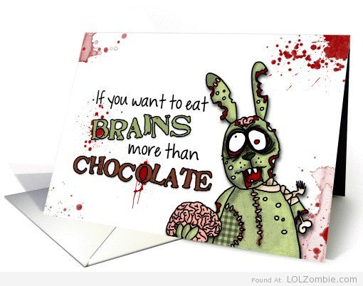 Zombie easter cards chocolate and gifts zombie easter bunny brains chocolate negle Choice Image