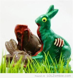 Zombie Peter Rabbit Chocolate Easter Bunny