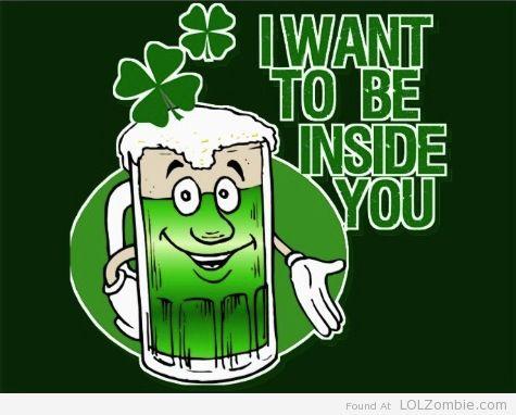 Green Beer Inside