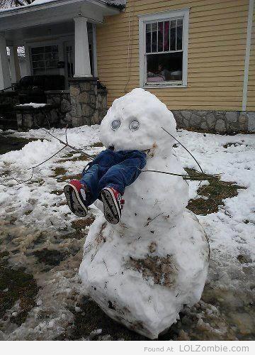 Snowman Eating Kid