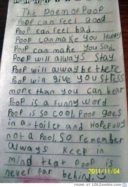 poop poem