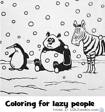 Easy Coloring Sheet