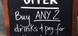 Drinks Special Sign