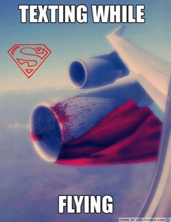 Superman Texting