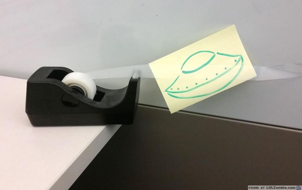 UFO Drawing on Tape