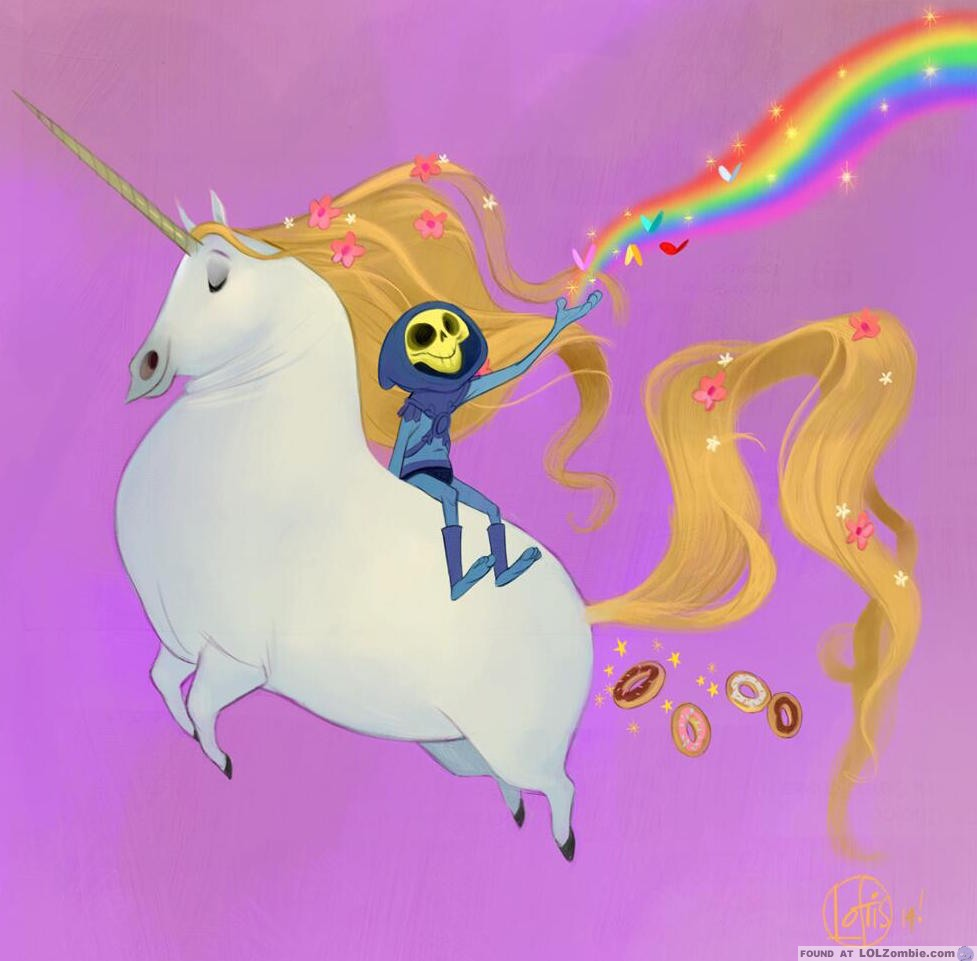 Skeletor on a Unicorn