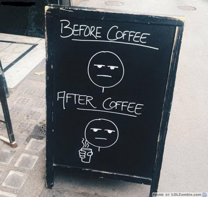 Before Coffee After Coffee