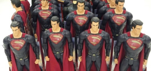 Batman hiding in Superman toys.