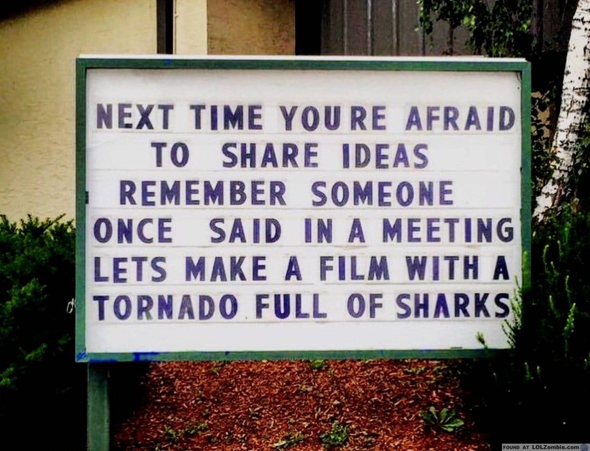 Shark Idea Sign
